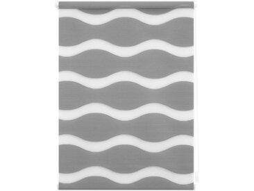 LICHTBLICK Doppelrollo »Duo Rollo Klemmfix Welle«, Lichtschutz, ohne Bohren, im Fixmaß, grau, grau