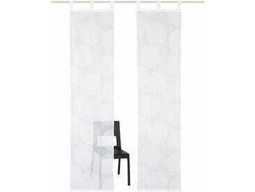 my home Schiebegardine »Belem«, Schlaufen (2 Stück), inkl. Beschwerungsstange, weiß, weiß