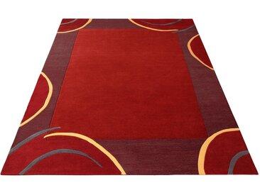 Theko Exklusiv Wollteppich »Bellary«, rechteckig, Höhe 13 mm, reine Wolle, mit Bordüre, Wohnzimmer, rot, rot