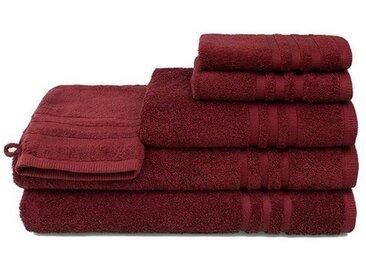 grace grand spa Handtuch Set »Aktion« (3-tlg), mit Streifen-Bordüre, rot, beere
