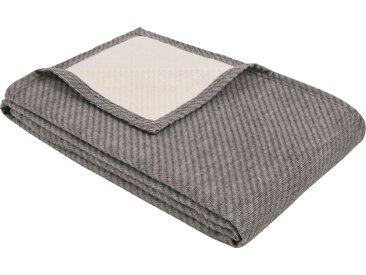 IBENA Wolldecke »Baumwoll-Tencel Decke Tennessee«, schlicht, grau, anthrazit