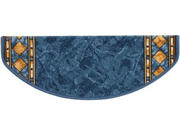 Kubus Stufenmatte »Langeoog«, Halbrund, Höhe 5 mm, blau, Blau