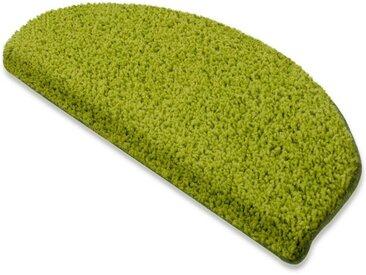 Floordirekt Stufenmatte »Shaggy-Stufenmatte Barcelona«, Halbrund, grün, Grün 140