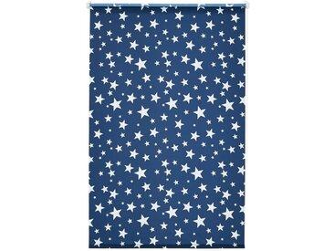 my home Seitenzugrollo »Sanya«, verdunkelnd, ohne Bohren, freihängend, Hitzeschutz, blau, blau