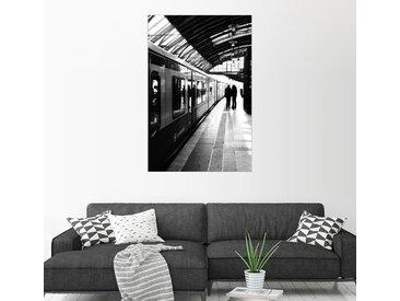 Posterlounge Wandbild, S-Bahn Berlin Schwarz Weiß Foto, Acrylglasbild