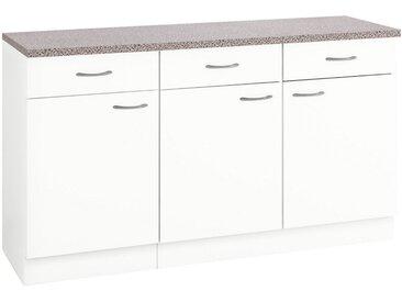 wiho Küchen Unterschrank »Kiel« 150 cm breit, weiß, Weiß/Weiß