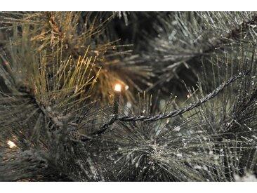 KONSTSMIDE LED Lichterkette mit Glimmereffekt, schwarz, 160 LEDs, Lichtquelle bernsteinfarben, Schwarz