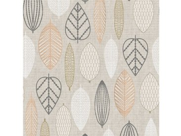Superfresco Easy Vliestapete »Scandi Leaf«, goldfarben, gold