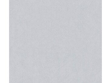 A.S. Création Vliestapete »Blooming Uni«, strukturiert, uni, grau, grau