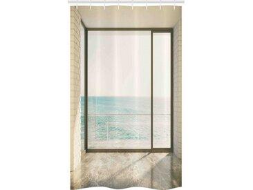 Abakuhaus Duschvorhang »Badezimmer Deko Set aus Stoff mit Haken« Breite 120 cm, Höhe 180 cm, Weiß Küstenszene Ocean View