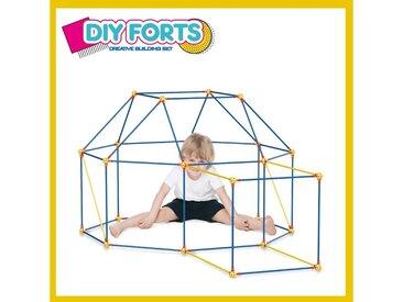 Blue Sky Spielturm-Spielzeugset »Diy Forts, Steckstabbauset, XXL Kantenmodel, Spielzelt, Bauspiel«, Mach es Selber! Konstruktionsspiel, ABS-Kunststoff