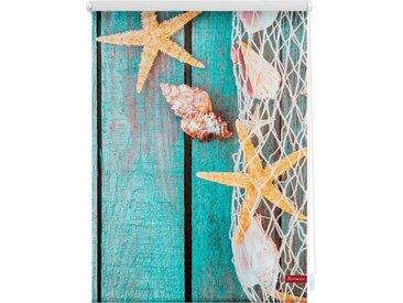 LICHTBLICK Seitenzugrollo »Klemmfix Motiv Bretter Beach«, Lichtschutz, ohne Bohren, freihängend, bedruckt