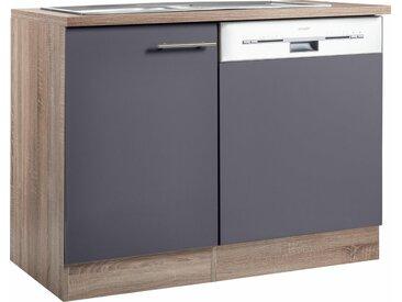 OPTIFIT Spülenschrank »Korfu«, mit Tür/Sockel für Geschirrspüler, grau, anthrazit