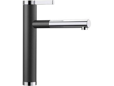 Blanco BLANCO Küchenarmatur »LINEE-S«, mit ausziehbarem Auslauf, schwarz, Strahl nicht umschaltbar, Bedienhebel oben