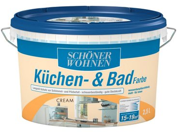 SCHÖNER WOHNEN-Kollektion SCHÖNER WOHNEN FARBE Feuchtraumfarbe »Küche/Badfarbe, cream«, 2,5 l, natur, cream