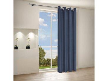 Gerster Vorhang »CATHY Elegante Vorhänge Ösenschal 140/235 cm Halbtransparent«, Ösen (1 Stück), blau, Blau