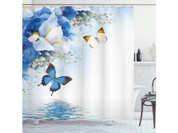 Abakuhaus Duschvorhang »Moderner Digitaldruck mit 12 Haken auf Stoff Wasser Resistent« Breite 175 cm, Höhe 180 cm, Blumen Exotische Blumen Teich