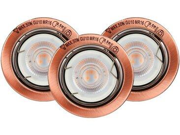 SPOT Light LED Einbauleuchte »Basic«, 3-flammig, 3er Set LED Einbauleuchte, Marke: CALI, Inklusive austauschbare LED-Leuchtmittel, 5W, 345lm, 2700K