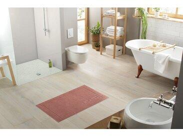LeGer Home by Lena Gercke Hotelmatte »Anisa« , Höhe 8 mm, beidseitig nutzbar, fußbodenheizungsgeeignet, Badgarnitur, 2-er Set, rot, rost
