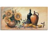 Artland Wandbild »Stillleben mit Sonnenblumen«, Vasen & Töpfe (1 Stück), in vielen Größen & Produktarten -Leinwandbild, Poster, Wandaufkleber / Wandtattoo auch für Badezimmer geeignet
