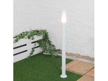 Licht-Erlebnisse Pollerleuchte »BRIGHTON Wegeleuchte Weiß 110 cm Garten Einfahrt IP44 Lampe«