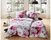 BETTWAESCHE-MIT-STIL Bettwäsche »Mako Satin Blumen Bettwäsche Magnolie rosa türkis«, 1 St. x 240 cm x 220 cm