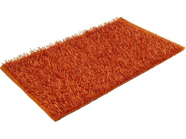 Gözze Badematte »Shaggy Uni« , Höhe 50 mm, rutschhemmend beschichtet, fußbodenheizungsgeeignet, orange, orange