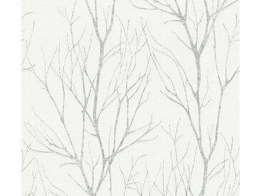 A.S. Création Vliestapete »Blooming in Ast Optik«, strukturiert, floral, grau, grau