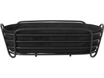 BLOMUS Brotkorb »DELARA«, Stahl, Baumwolle, (1-tlg), elegantes Design, oval, schwarz, schwarz