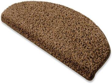 Floordirekt Stufenmatte »Shaggy-Stufenmatte Barcelona«, Halbrund, braun, Hellbraun 53