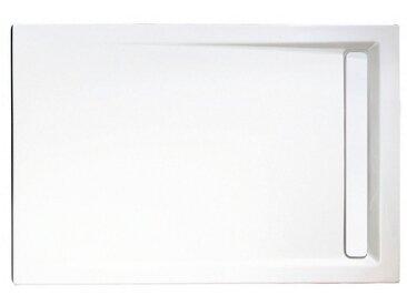 Rechteckduschwanne »mit Rinnenabdeckung«, rechteckig, Sanitäracryl, BxT: 120 x 90 cm