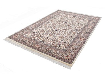 THEKO Orientteppich »Benares Isfahan«, rechteckig, Höhe 12 mm, von Hand geknüpft, natur, braun-creme
