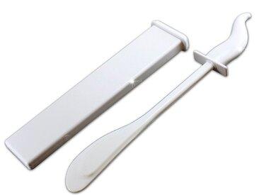 ADOB WC-Garnitur »Bürstenlose WC-Bürste«, (2-tlg), Silikon-Schaber, weiß, weiß