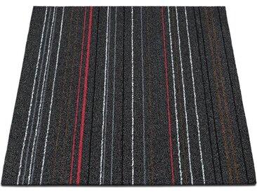 casa pura Teppichfliese »Warsaw«, Quadratisch, Höhe 6 mm, Selbstliegend, schwarz, Anthrazit 24