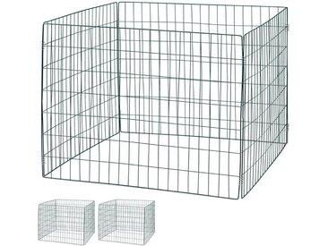 relaxdays Komposter »Komposter Metall 3er Set«, BxTxH: 90x90x70 cm