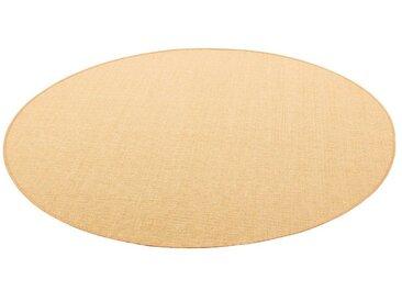 Snapstyle Sisalteppich »Sisal Natur Teppich Rund«, Rund, Höhe 6 mm, gelb, Honig