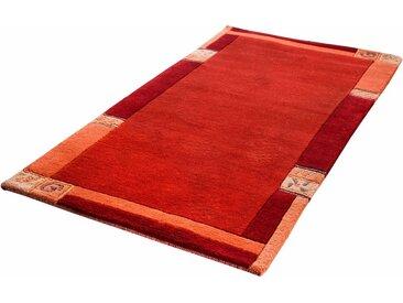 LUXOR living Wollteppich »India«, rechteckig, Höhe 20 mm, handgeknüpft, mit Bordüre, rot, rot