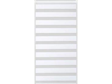 Good Life Doppelrollo »Alina 1«, blickdicht, ohne Bohren, 1 Stück, weiß, weiß