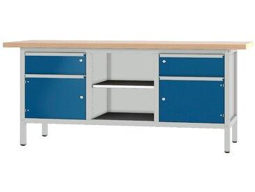 PADOR Werkbank »31 S 252/20 R«, Höhe: 85,5 cm, grau, hellgrau/blau