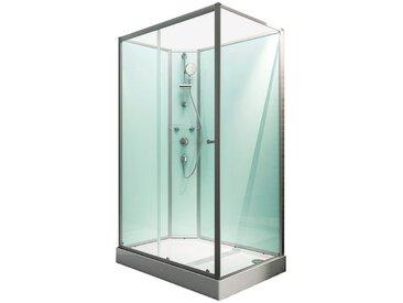 Schulte SCHULTE Komplett-Set: Komplettdusche »Ibiza«, BxT: 140 x 90 cm, silberfarben, nur links montierbar, alufarben