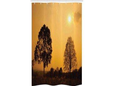 Abakuhaus Duschvorhang »Badezimmer Deko Set aus Stoff mit Haken« Breite 120 cm, Höhe 180 cm, Natur Baum auf Sonnenuntergang Dämmerung