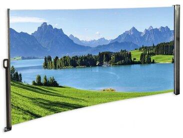 Seitenmarkise Berge - Foto Windschutz Sichtschutz Rechts 160 x 300 cm