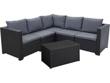 Keter Lounge Set Provence 2-tlg Premium Panama anth. mit Kissen anth. u Tisch/Aufbewahrungsbox Arica