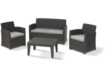 Allibert Corona Lounge Set 4-teilig anthrazit inkl. Tisch