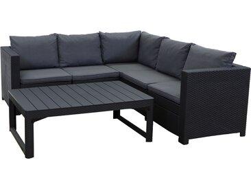Keter Lounge Set Provence 2-teilig Premium Panama anth. mit Kissen anth. und höhenv. Tisch