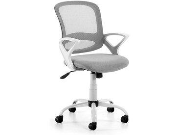 Bürostuhl in Grau und Weiß Mesh