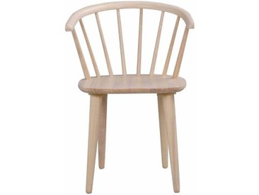 Esszimmerstuhl aus Holz massiv White Wash (2er Set)