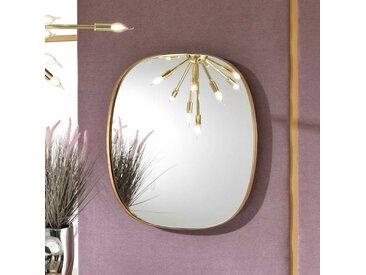 Ovaler Wandspiegel in Bronzefarben Retro Design