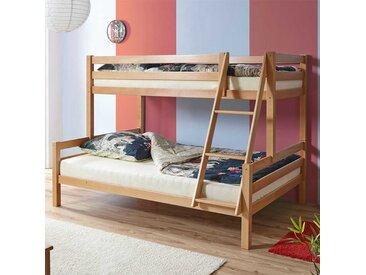 Doppelstockbett aus Buche Massivholz 140x200 cm Liegefläche