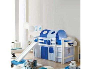 Rutschbett in Blau-Weiß Regal und Rutsche